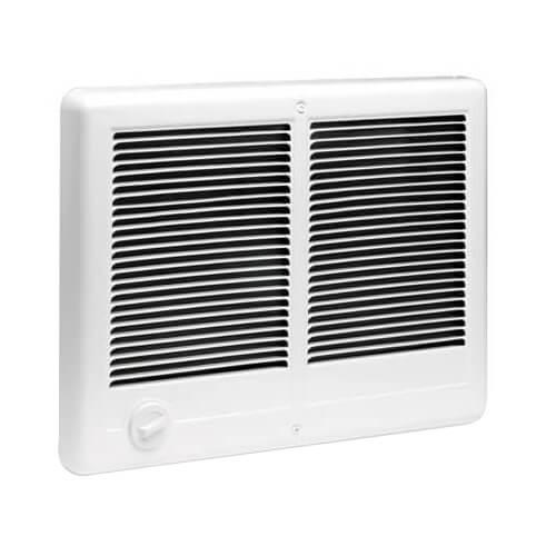 Com-Pak Twin Plus White Wall Fan Heater, 4000/3000 Watt (240/208V) Product Image