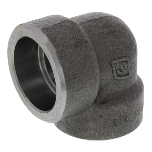 "1"" 3000# A105N Carbon Steel Socket Weld 90 Elbow Product Image"