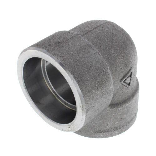 """1-1/2"""" 3000# A105N Carbon Steel Socket Weld 90 Elbow Product Image"""