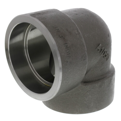 """3"""" 3000# A105N Carbon Steel Socket Weld 90 Elbow Product Image"""