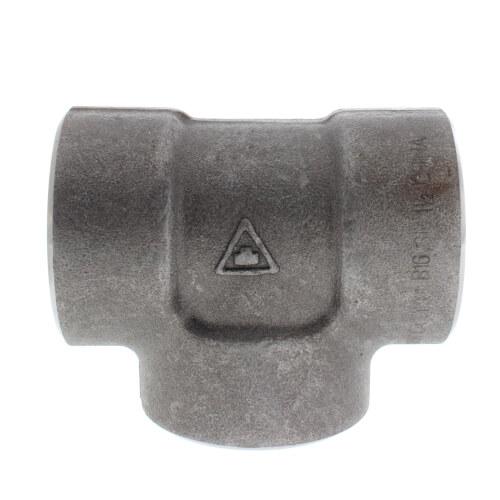 """1-1/2"""" 3000# A105N Carbon Steel Socket Weld Tee Product Image"""