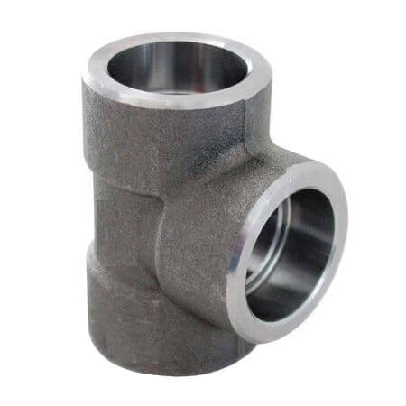"1-1/2"" X 1"" 3000# A105N Carbon Steel Socket Weld Tee Product Image"