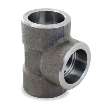"2"" X 3/4""3000# A105N Carbon Steel Socket Weld Tee Product Image"