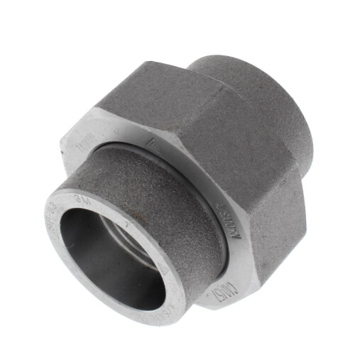 """1"""" 3000# A105N Carbon Steel Socket Weld Union Product Image"""