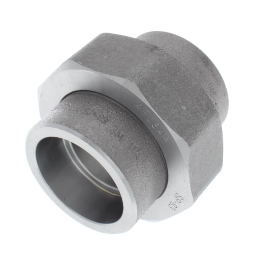 """1-1/2"""" 3000# A105N Carbon Steel Socket Weld Union Product Image"""