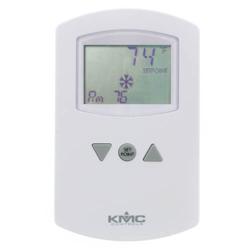 Dual-Setpoint Analog Electronic Room Thermostat with LCD Display (55° to 85°F) Product Image