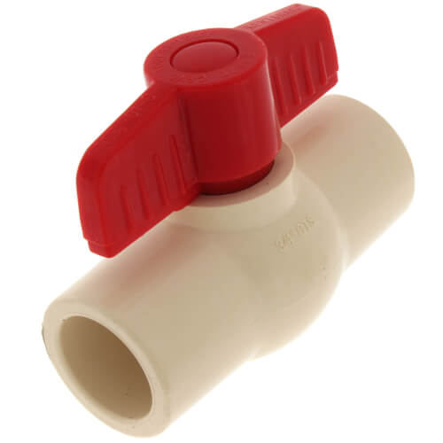 """1/2"""" CPVC Ball Valve (Solvent) Product Image"""