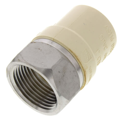 "1"" CPVC x Female Stainless Steel Adapter (Lead Free) Product Image"
