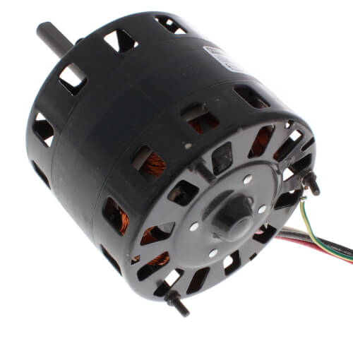 1//6-1//8HP 230V 3.1-2.2 amps Fasco D318 5 Frame Open Ventilated Shaded Pole Direct Drive Blower Motor with Sleeve Bearing 60Hz 1050rpm