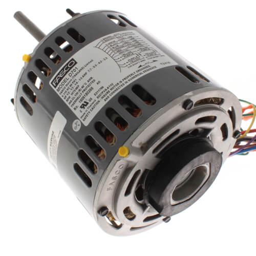 4-Sd 1075 RPM Direct Drive Blower Motor (1/2 - 1/3 - 1/4 - 1/5 HP, Fasco D Wiring Diagram on