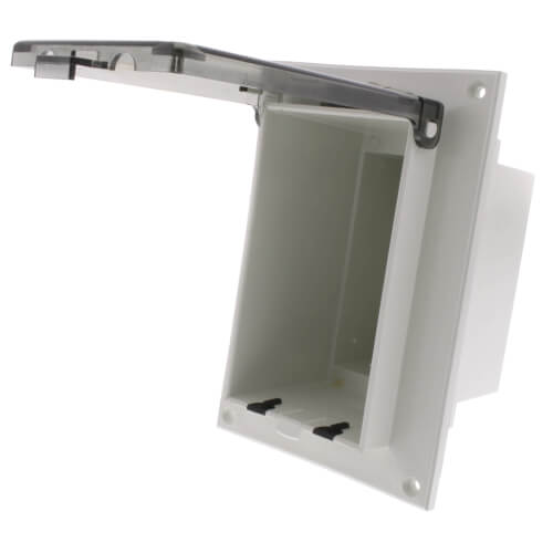 1-Gang Clear Low Profile InBox for Flat Surface, Retrofit (Vertical) Product Image