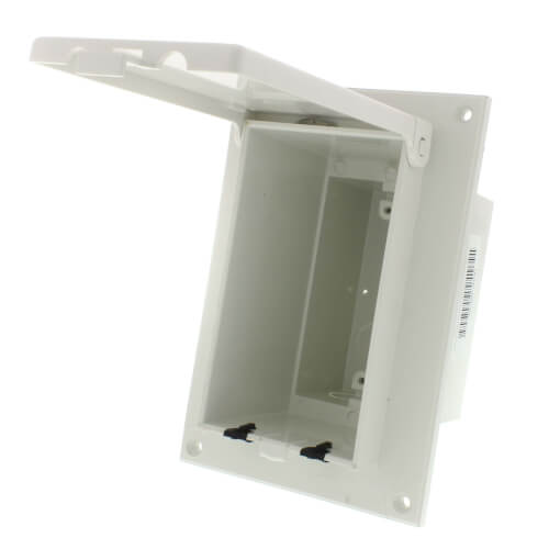 1-Gang White Low Profile InBox for Flat Surface, Retrofit (Vertical) Product Image
