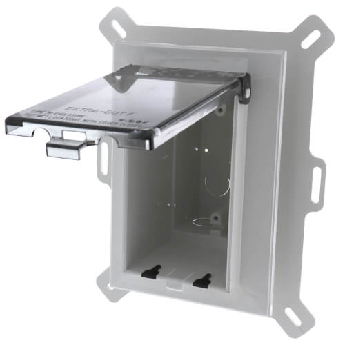 1-Gang Weatherproof Low Profile Recessed Electrical Box (Clear) Product Image