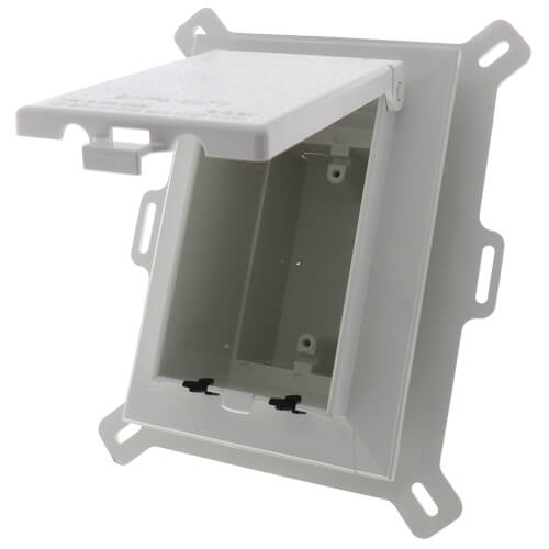 1-Gang Weatherproof Low Profile Recessed Electrical Box (White) Product Image