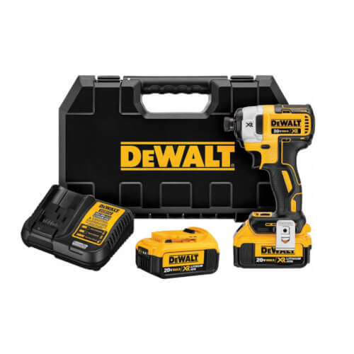 """20V MAX XR Impact Driver Kit 1/4"""" 3-Speed Driver, (2) Batteries Product Image"""
