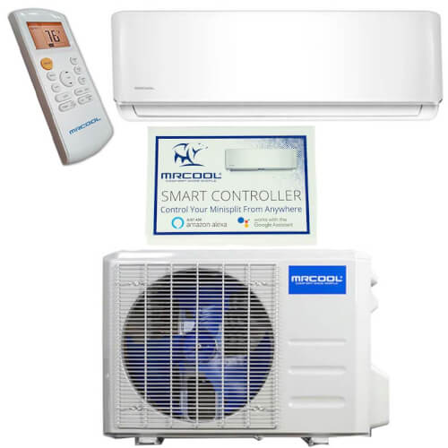 DIY 36,000 BTU Ductless Mini Split AC and Heat Pump w/ Wireless-Enabled Smart Controller, Package (230V) Product Image
