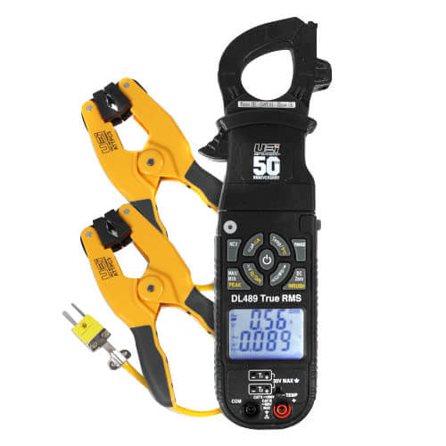 DL489, AC 600A True RMS Clamp-On Meter w/ Pipe Clamp Probe (750V) Product Image
