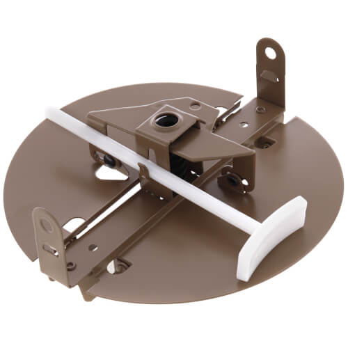 """6"""" Steel Butterfly Damper (Brown) Product Image"""