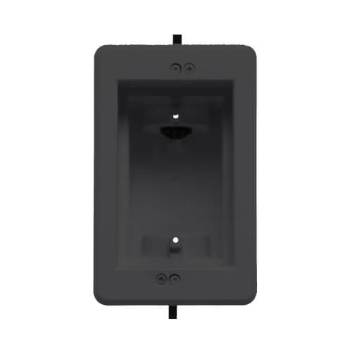 1-Gang Recessed Indoor InBox for New & Retrofit Construction (Black) Product Image