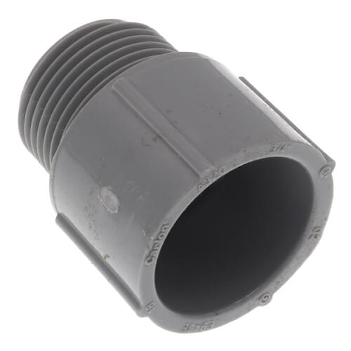 """3/4"""" PVC Schedule 40 Male Adapter Product Image"""