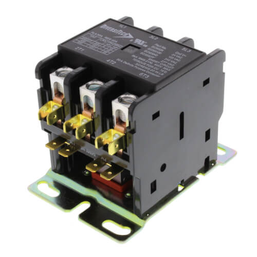3 Pole Large Frame Definite Purpose Contactor (24 Vac, 30 Amp) Product Image