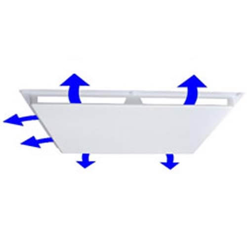"""24"""" x 24"""" 3 Way Air Deflector Cover, Fits 1"""" Grid Product Image"""