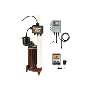1/2 HP Elevator Sump Pump System w/ Mechanical Float Switch, OilTector & Alarm - 208-230v - 25 ft Cord Product Image