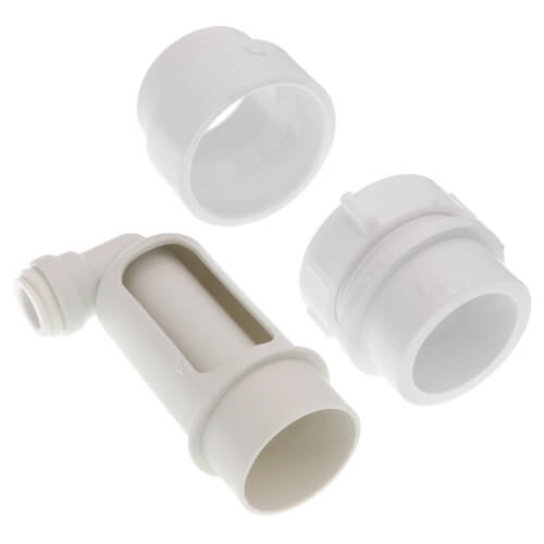 """Air Gap For Water Softener and Water Filter w/ PVC Trap Adapter, 1/2"""" Push-In Inlet Product Image"""