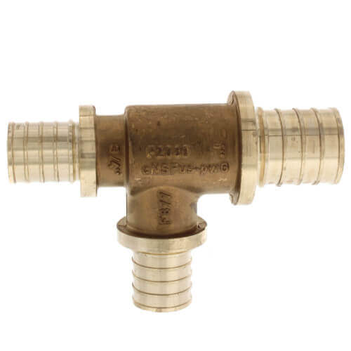 "1-1/4"" X 1"" X 1"" F2080 PEX  Tee (Lead Free Brass) Product Image"