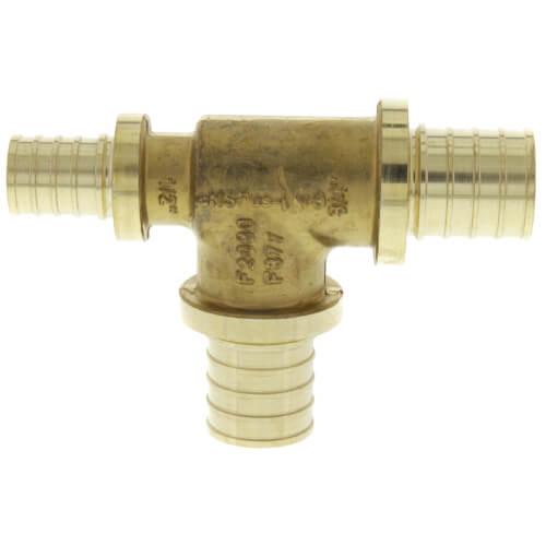 "3/4"" X 1/2"" X 3/4"" F2080 PEX Tee (Lead Free Brass) Product Image"