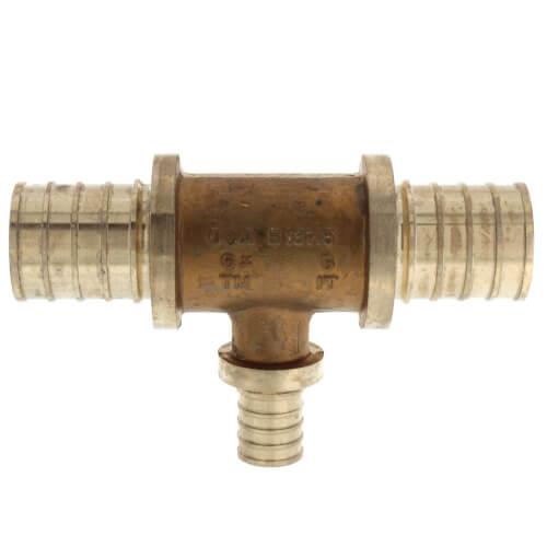 "1"" X 1"" X 1/2"" F2080 PEX Tee (Lead Free Brass) Product Image"