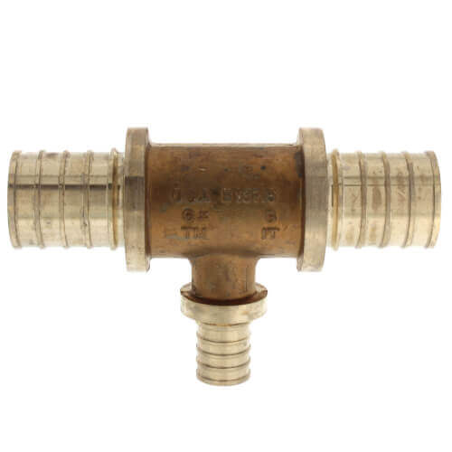 "1"" X 1"" X 3/4"" F2080 PEX Tee (Lead Free Brass) Product Image"