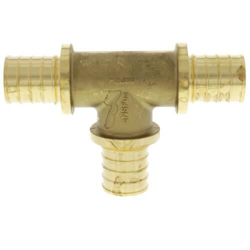 "1"" F2080 PEX Tee (Lead Free Brass) Product Image"