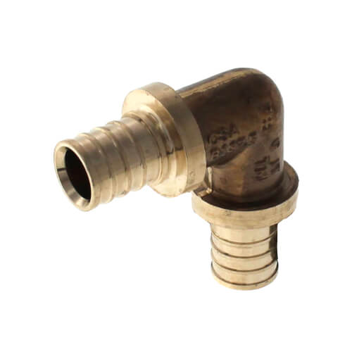 """1/2"""" F2080 PEX 90 Elbow (Lead Free Brass) Product Image"""