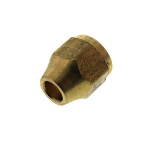 """(41S-4) 1/4"""" Brass Short Flare Nut Product Image"""