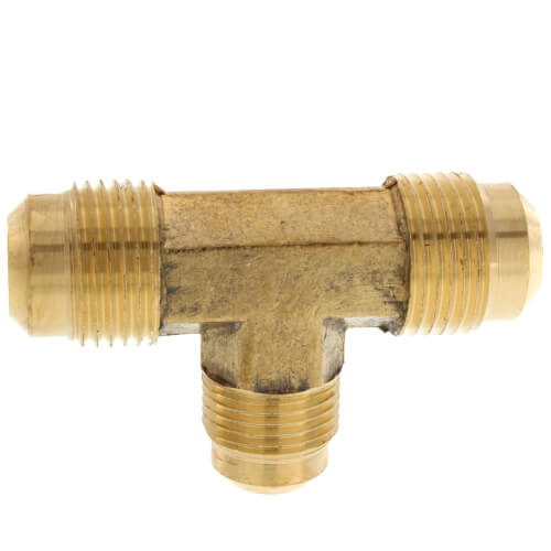 "(44R-108) 5/8"" x 1/2"" Brass Reducing Flare Tee Product Image"
