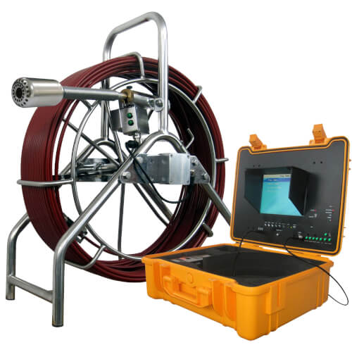 Mid-Range Pipe Inspection Camera w/ 200' Cable & Stand Product Image