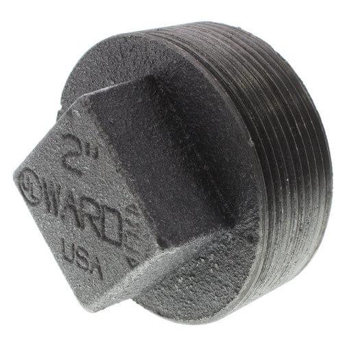 "2"" Black Regular Cored Plug Product Image"