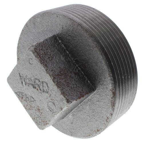 "3"" Black Regular Cored Plug Product Image"