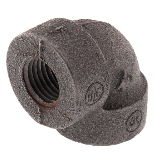 """1/4"""" Black Cast Iron Steam 90° Elbow Product Image"""