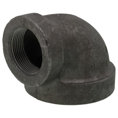"2-1/2"" x 1-1/2"" Black Cast Iron Steam 90° Elbow Product Image"