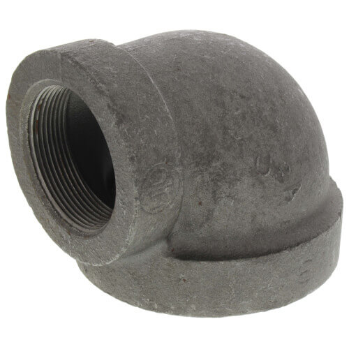 "2-1/2"" x 3/4"" Black Cast Iron Steam 90° Elbow Product Image"