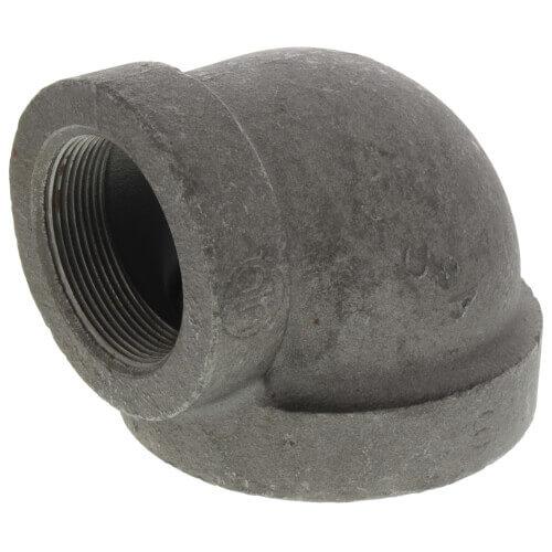 "3"" x 2-1/2"" Black Cast Iron Steam 90° Elbow Product Image"