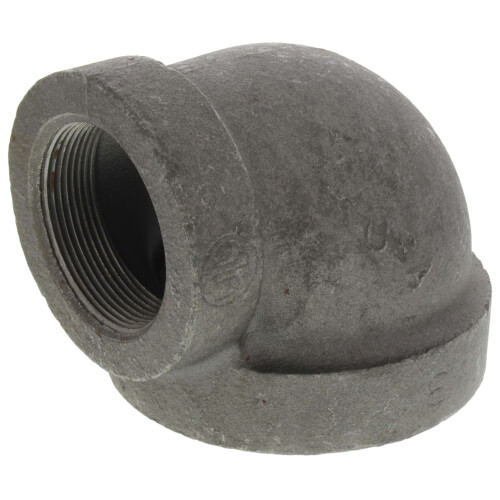 "3"" x 2"" Black Cast Iron Steam 90° Elbow Product Image"