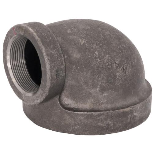 "4"" x 2"" Black Cast Iron Steam 90° Elbow Product Image"