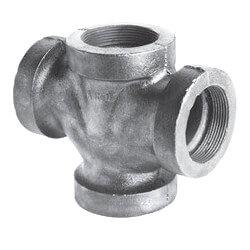 """1-1/2"""" Black Cast Iron Drainage Double 90° Wye Product Image"""