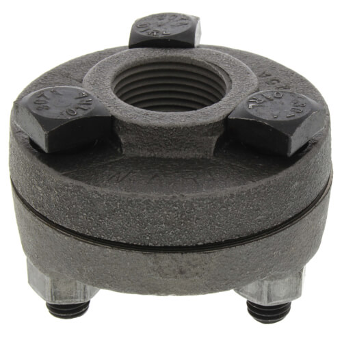 "1"" Black Cast Iron Steam Flange Union w/ Gasket Product Image"