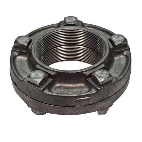"4"" Black Cast Iron Steam Flange Union w/ Gasket Product Image"