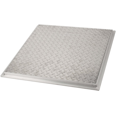 "24"" x 24"" (Frame Opening) FD-8060 Non Hinged: Flush Diamond Plate Floor Door Product Image"