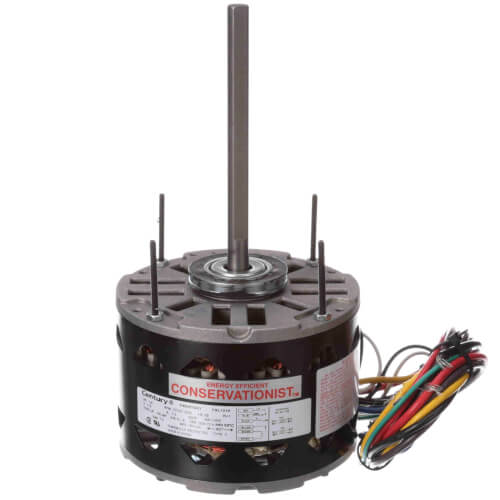 """5-5/8"""" 3-Speed High Efficiency Indoor Blower Motor (115V, 1075 RPM, 1/6 HP) Product Image"""